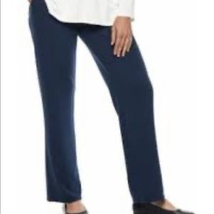Casual Work Tummy Control Pants Blue Small